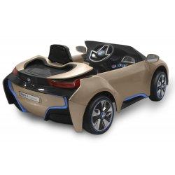 Mini voiture électrique pour enfants Série Peinture Métalisée Or BMW i8 avec télécommande