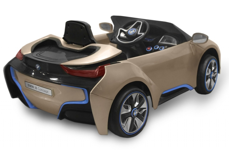 mini voiture bmw i8 enfant avec t l commande et lecteur mp3. Black Bedroom Furniture Sets. Home Design Ideas