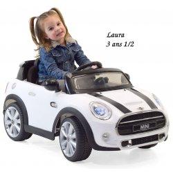 Mini Cooper avec télécommande, voiture électrique pour enfant