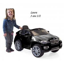 Mini voiture électrique pour enfant BMW X6 avec télécommande