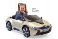 Mini voiture enfant BMW i8 série spéciale OR avec télécommande