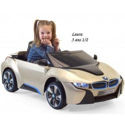 Mini voiture Mini voiture enfant BMW i8 série spéciale OR avec télécommande