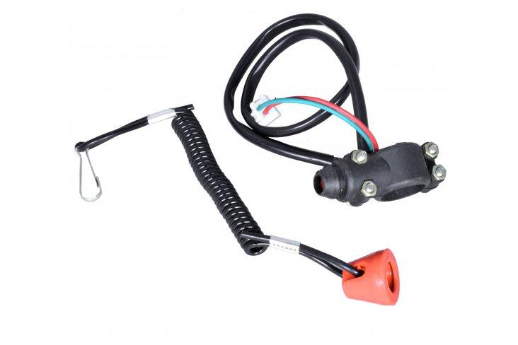 Cordon coupe circuit + bouton pocket bike