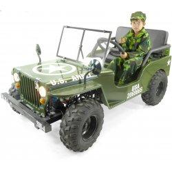 Jeep enfant 125cc 2 places willys sans amortisseurs