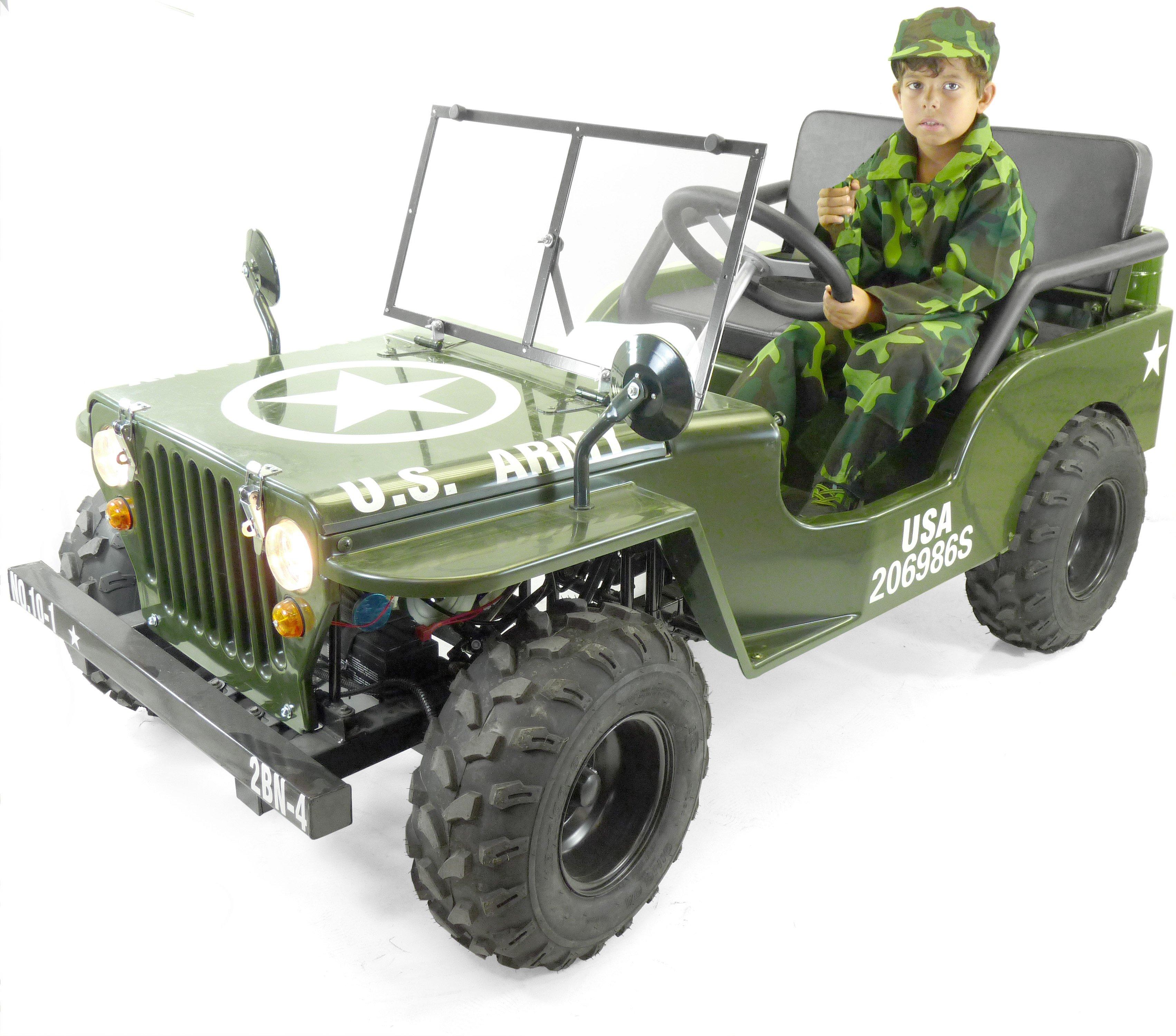 Enfant VitessesMarche Arrière Jeep 110cc 3 Avec Moteur tdshCQr