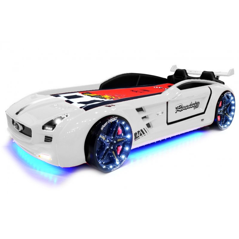lit voiture pour enfant roadster eclairage led avec. Black Bedroom Furniture Sets. Home Design Ideas