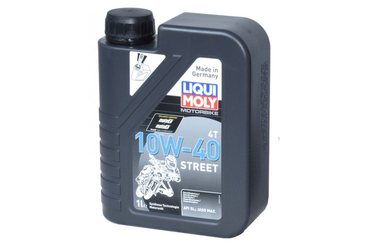 Huile 10W40 synthèse Moly street race