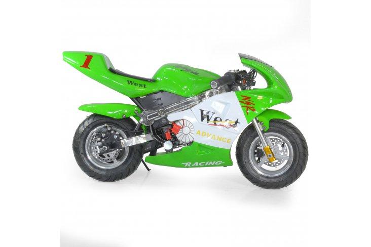 Pocket moto enfant de course électrique 350W