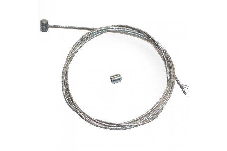 Câble frein 2 mètres nu + serre câble