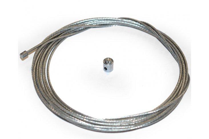 Câble accélérateur 2,5 mètres + serre câble