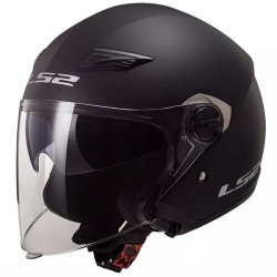 Casque Casque adulte jet LS2 OF569 TRACK MATT BLACK