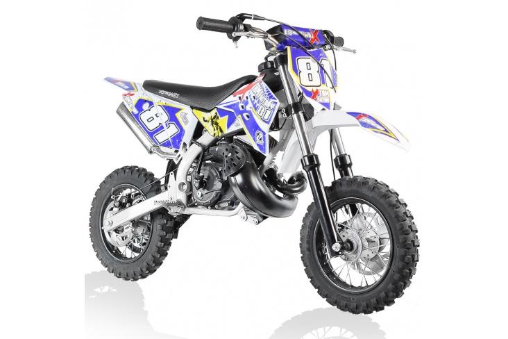 Mini moto dirt bike cross enfant 50cc 2T Roues 10/10