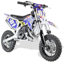 50cc 2T - 60cc 4T - 70cc 4T - Mini moto cross enfant Mini cross enfant 50cc 2T 10/10 fourche inversée