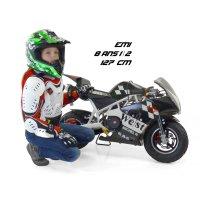 49cc, 50cc Pocket bike, mini moto piste, cross enfant