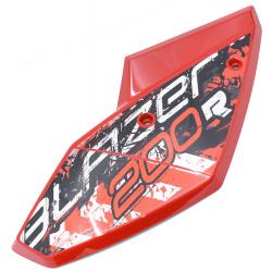 Garde boue arrière gauche buggy 200cc rouge