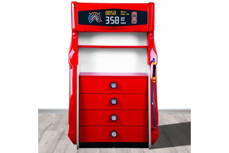 Commode enfant pompe à essence 4 tiroirs