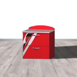 MEUBLE Table de chevet 2 tiroirs SPEEDSPORT