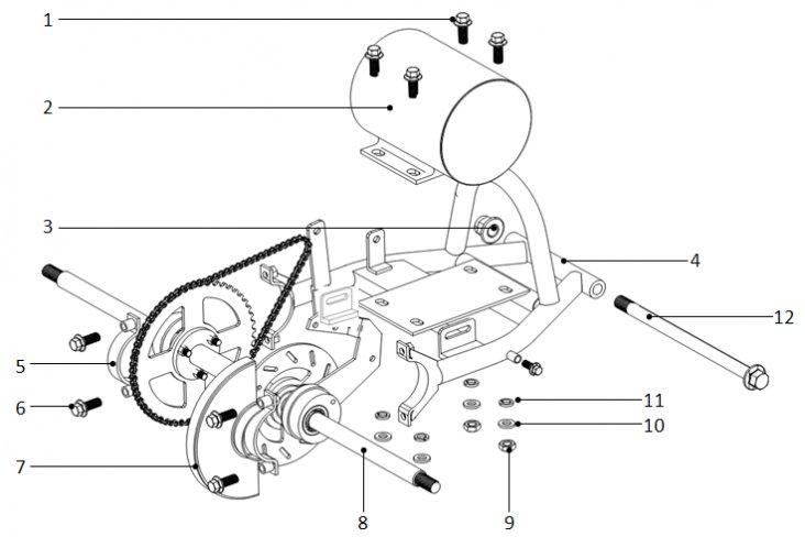 D / Arbre arrière pocket quad