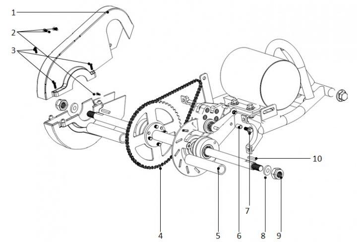 E2 / Axe arrière pocket quad