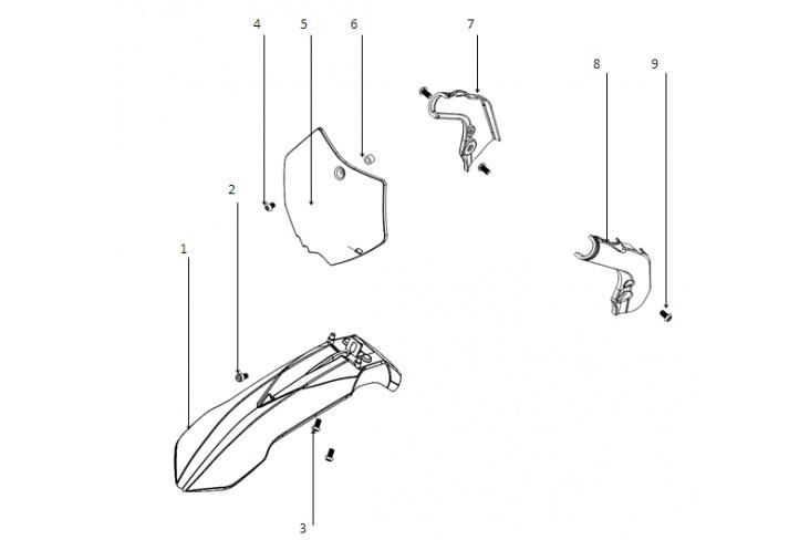 G1 / Carénage pocket bike avant