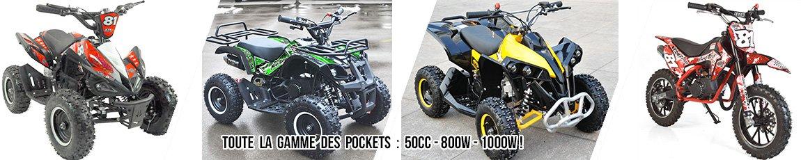 Pocket quad enfant ou petit quad enfant essence ou électrique de 4 ans à 10 ans !